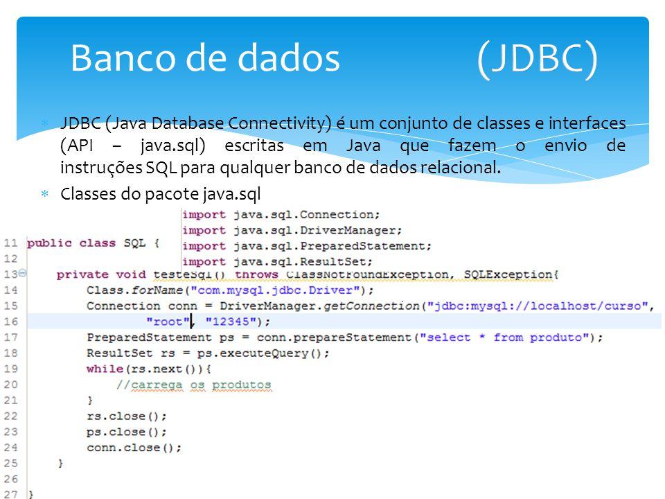 Banco de dados (JDBC)
