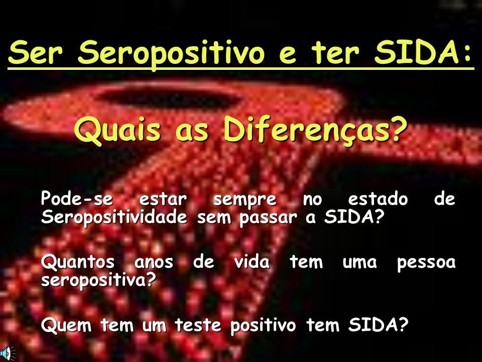 Ser Seropositivo e ter SIDA: Quais as Diferenças