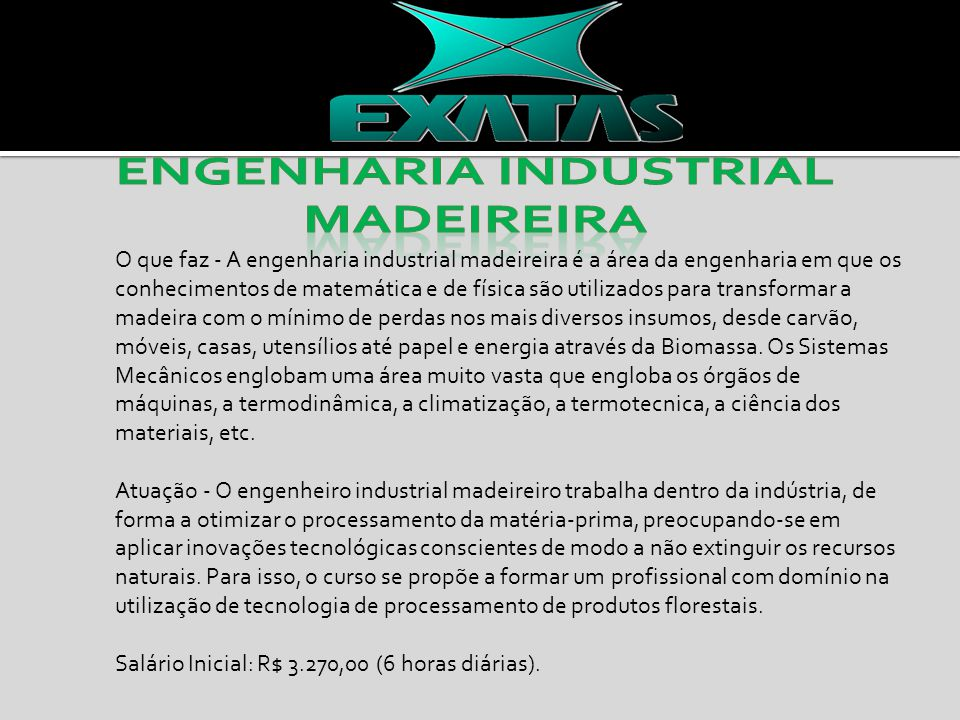 Engenharia Industrial madeireira
