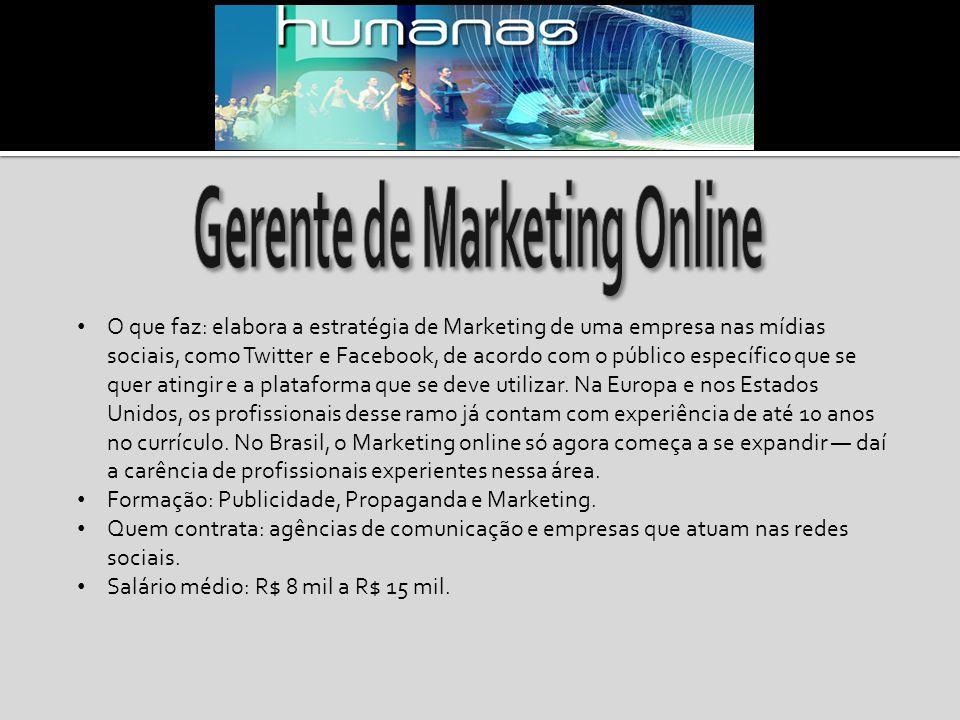 Gerente de Marketing Online