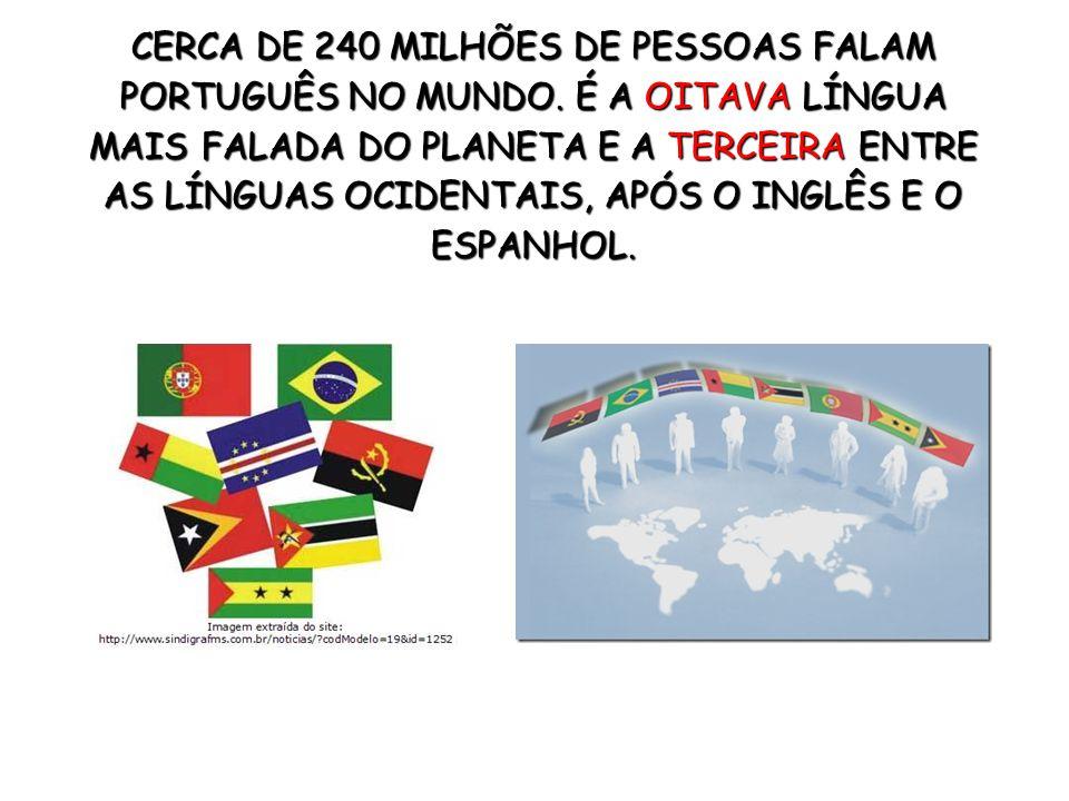 CERCA DE 240 MILHÕES DE PESSOAS FALAM PORTUGUÊS NO MUNDO