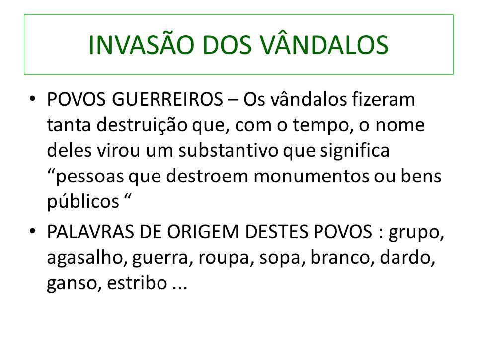 INVASÃO DOS VÂNDALOS
