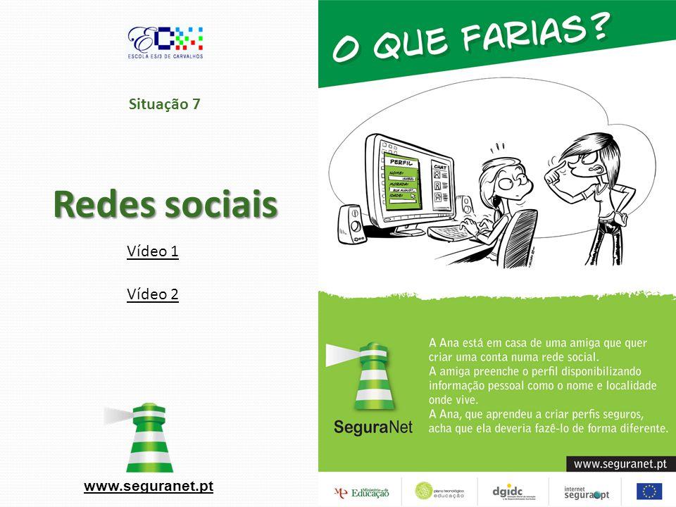 Situação 7 Redes sociais