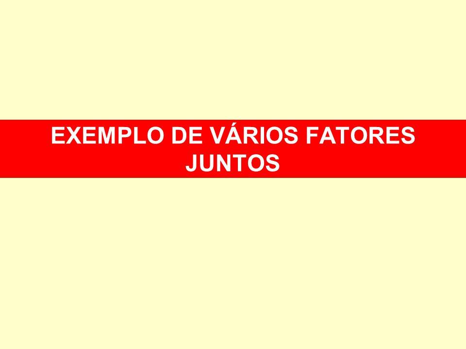 EXEMPLO DE VÁRIOS FATORES JUNTOS