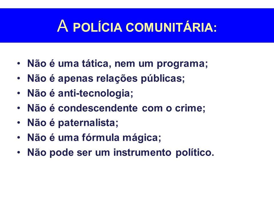 A POLÍCIA COMUNITÁRIA: