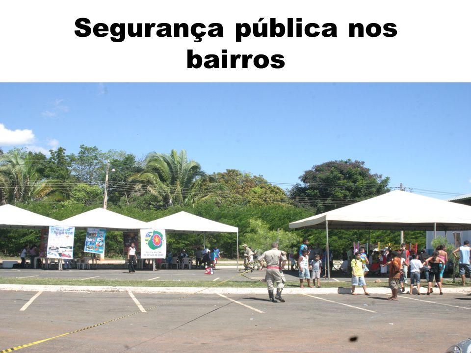 Segurança pública nos bairros