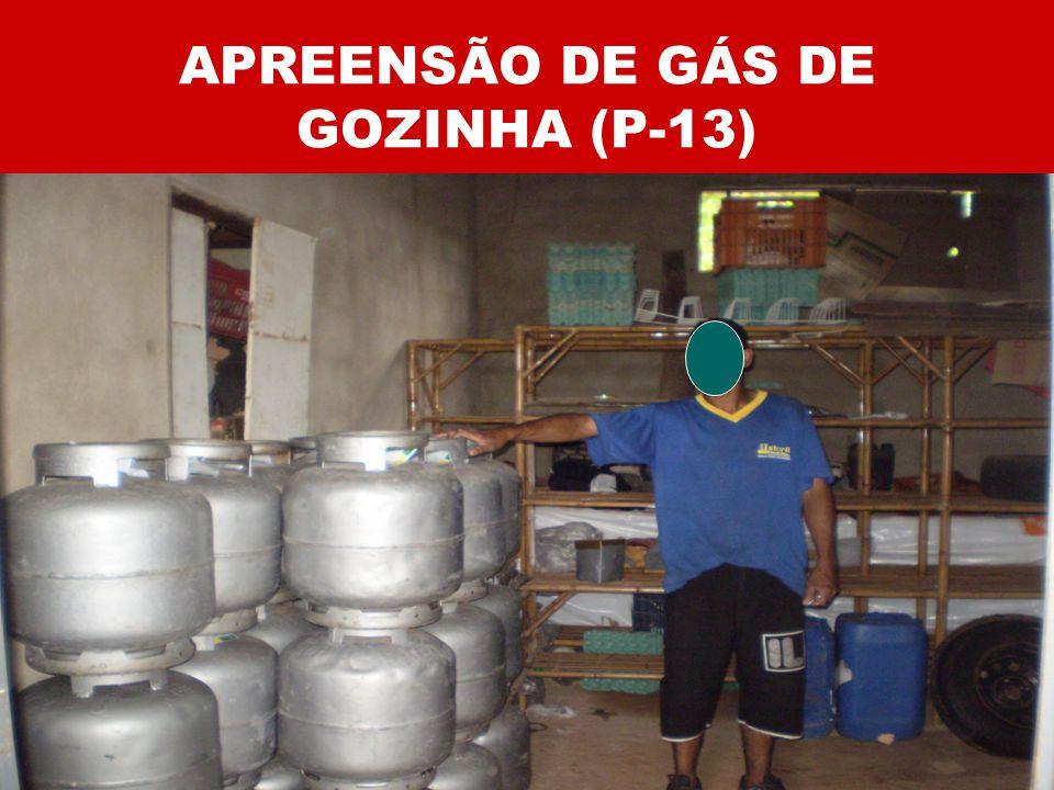 APREENSÃO DE GÁS DE GOZINHA (P-13)