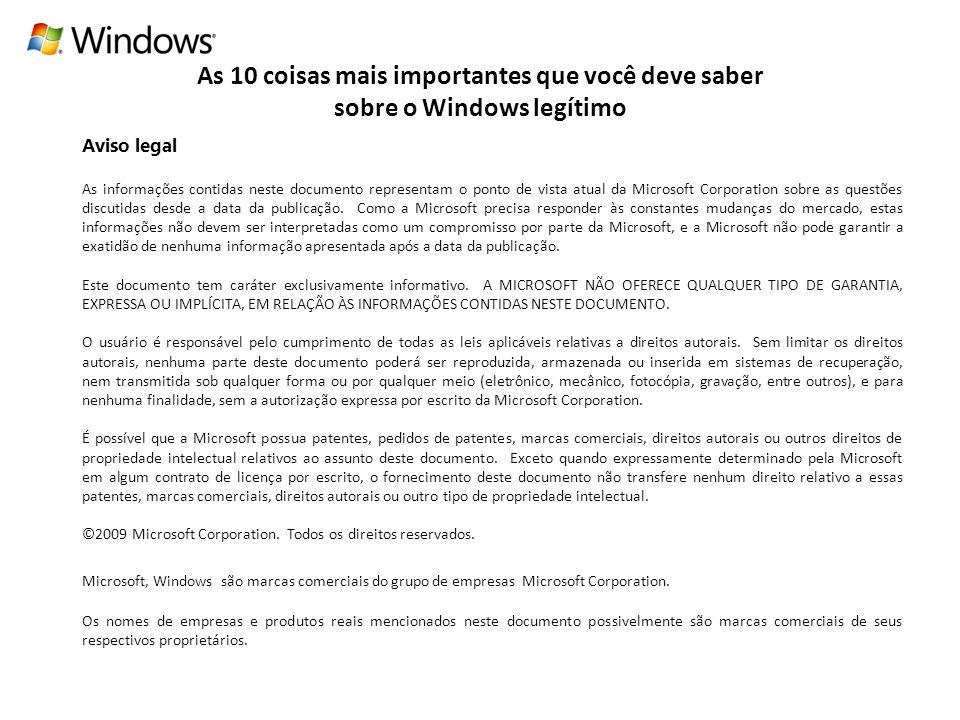 As 10 coisas mais importantes que você deve saber sobre o Windows legítimo
