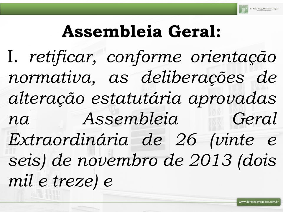 Assembleia Geral: