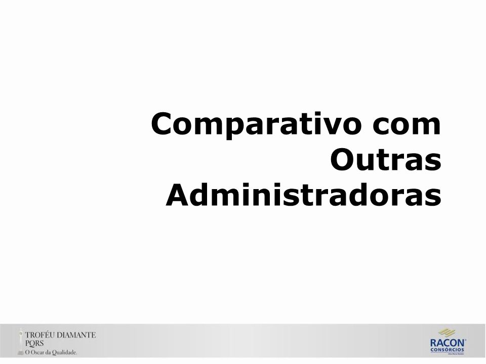 Comparativo com Outras Administradoras