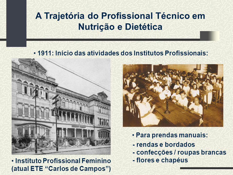 1911: Início das atividades dos Institutos Profissionais:
