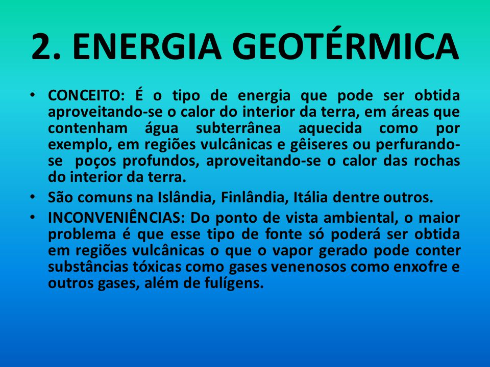 2. ENERGIA GEOTÉRMICA