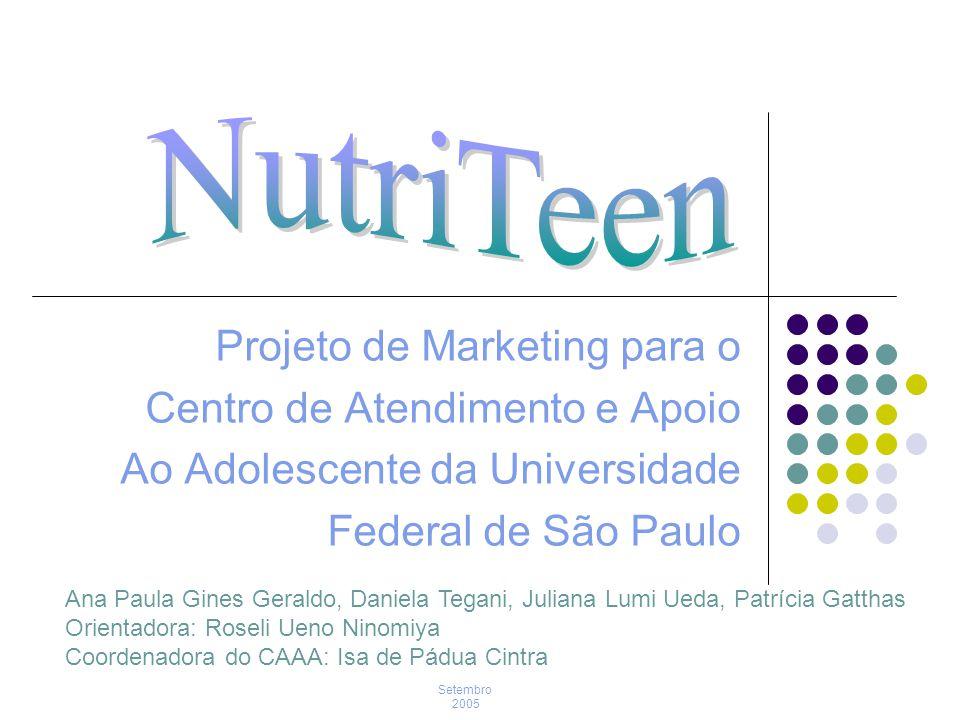 NutriTeen Projeto de Marketing para o Centro de Atendimento e Apoio