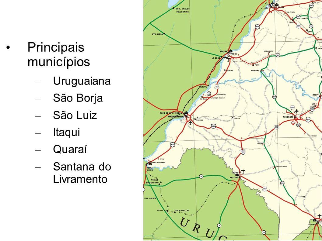 Principais municípios