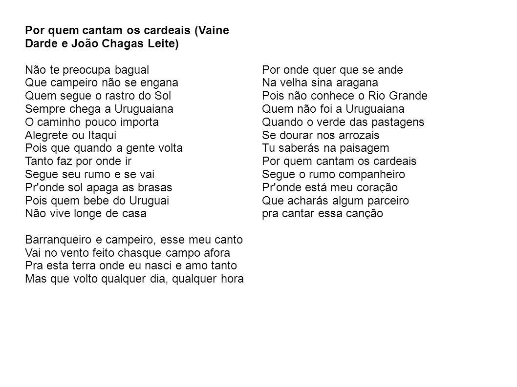 Por quem cantam os cardeais (Vaine Darde e João Chagas Leite)
