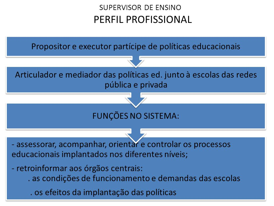 SUPERVISOR DE ENSINO PERFIL PROFISSIONAL