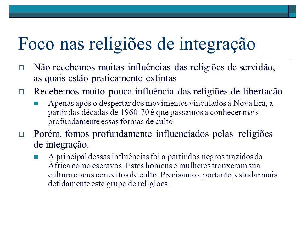 Foco nas religiões de integração