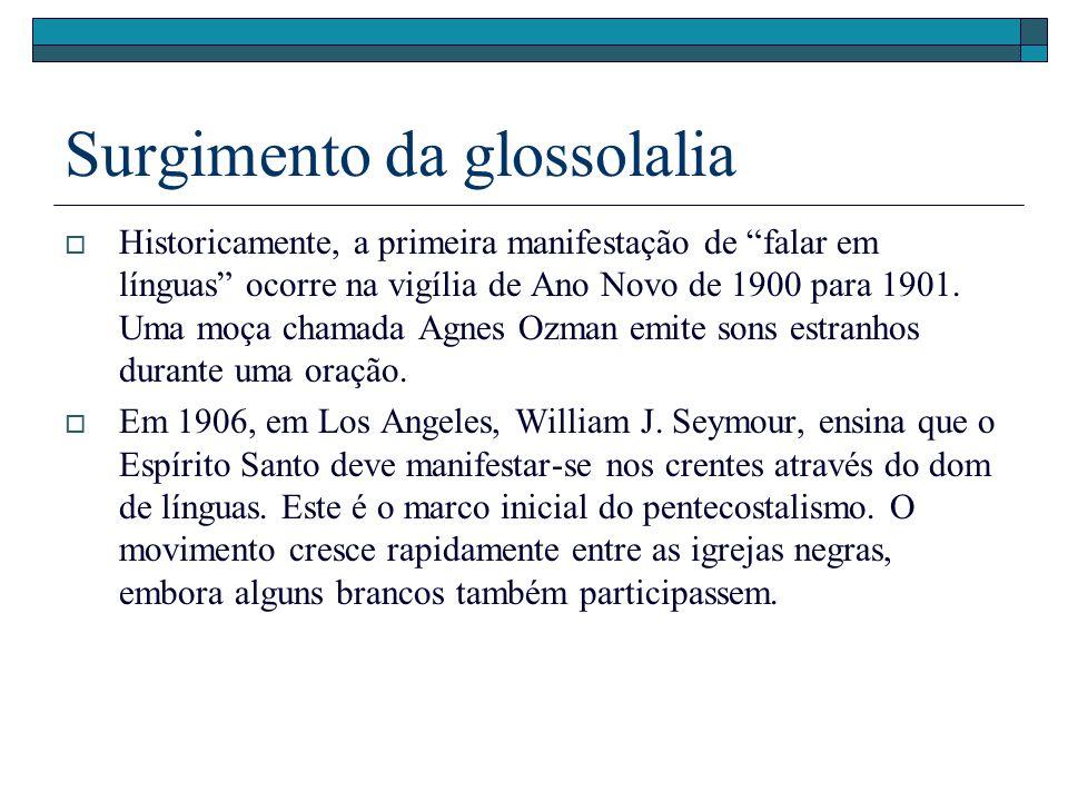Surgimento da glossolalia