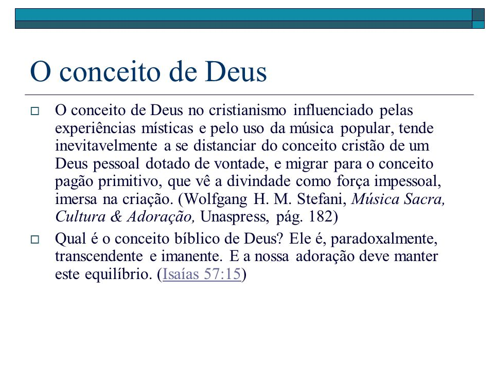 O conceito de Deus