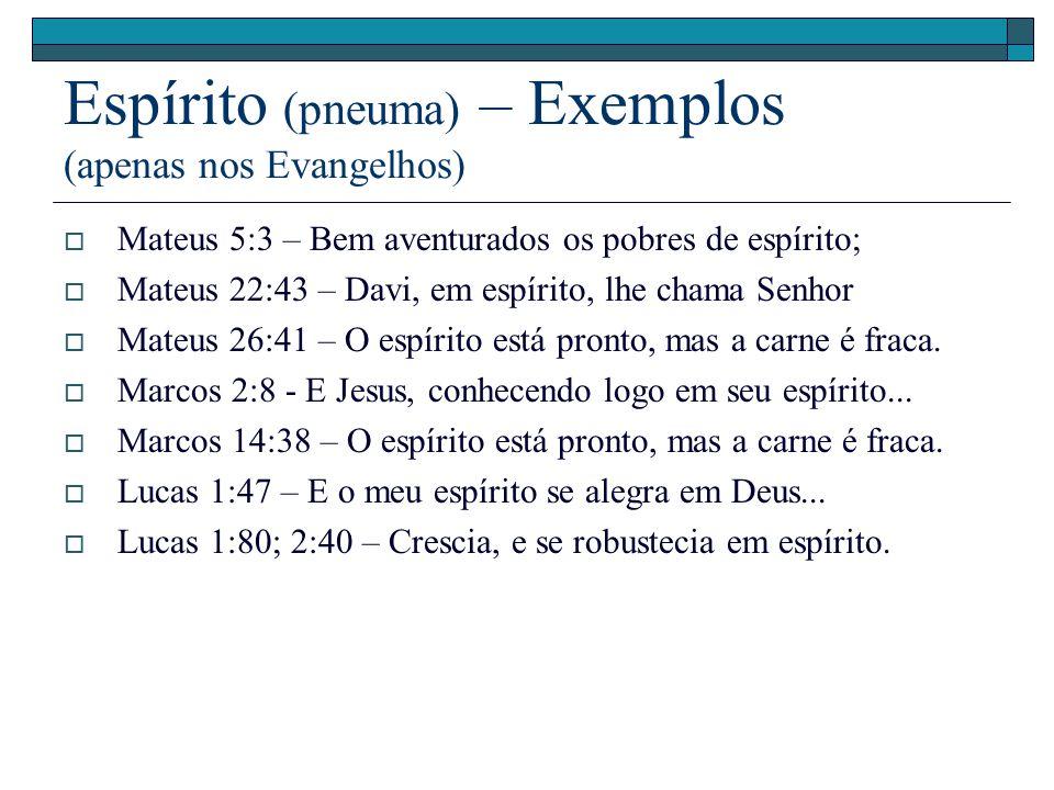 Espírito (pneuma) – Exemplos (apenas nos Evangelhos)