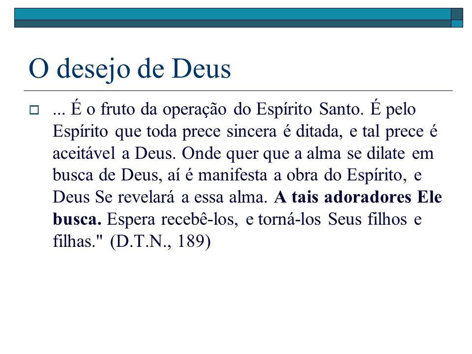 O desejo de Deus