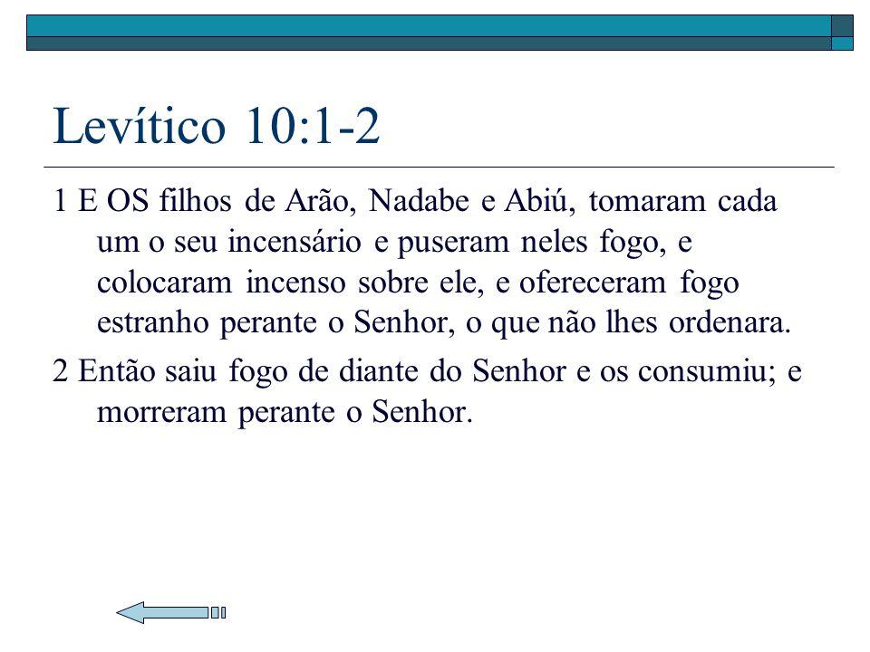 Levítico 10:1-2