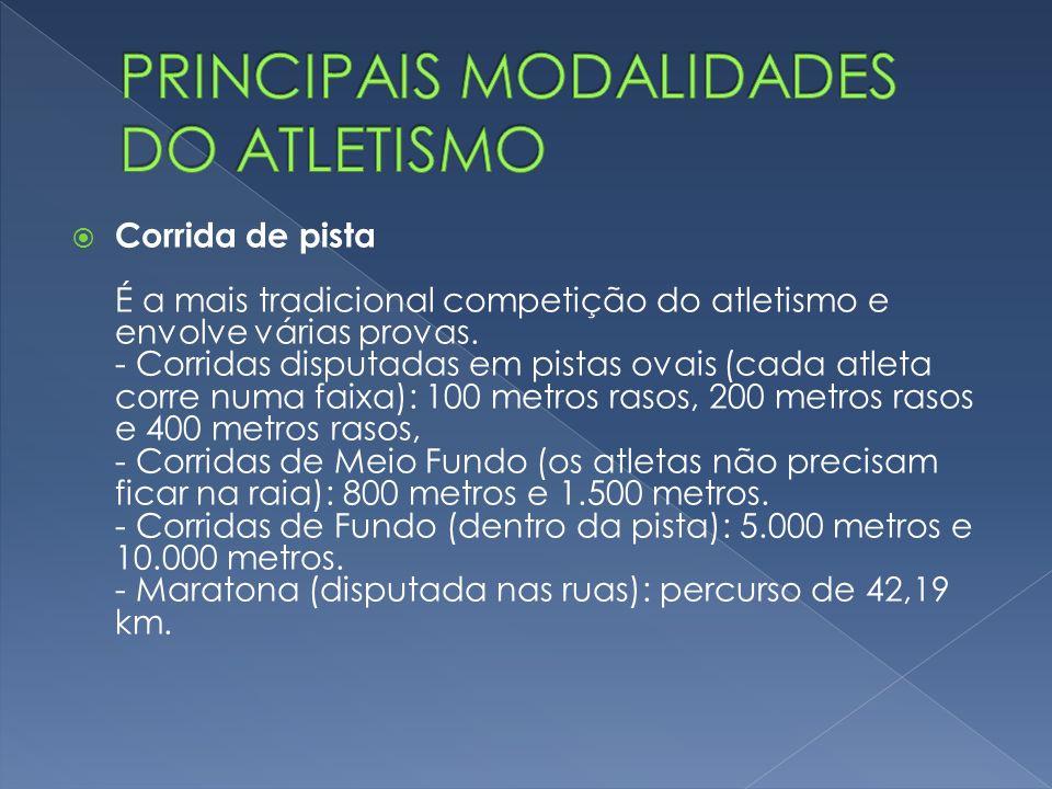 PRINCIPAIS MODALIDADES DO ATLETISMO