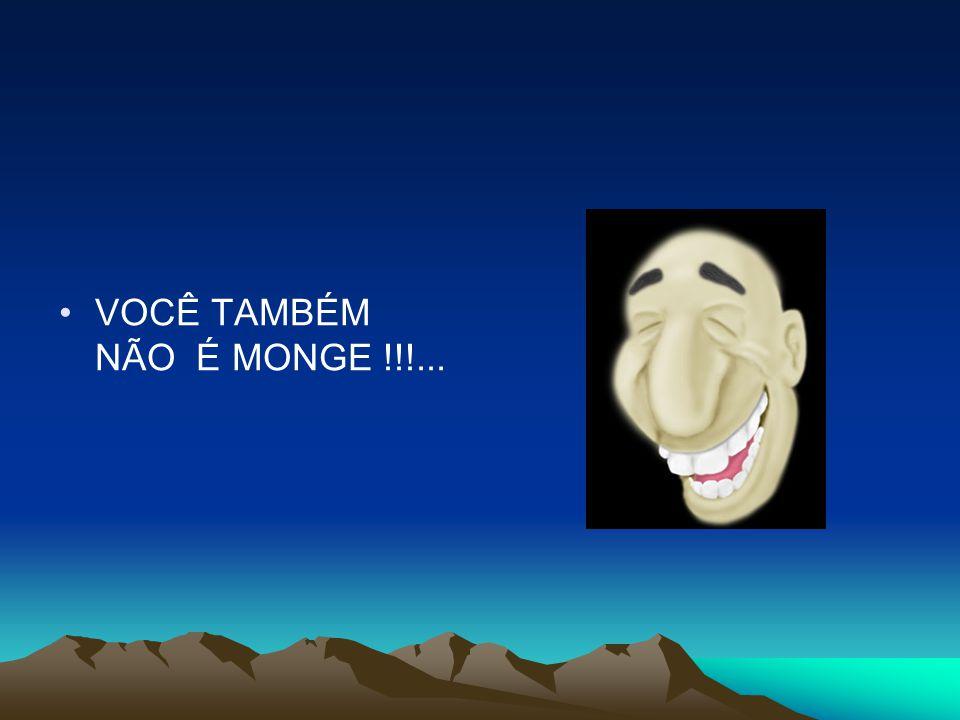 VOCÊ TAMBÉM NÃO É MONGE !!!...