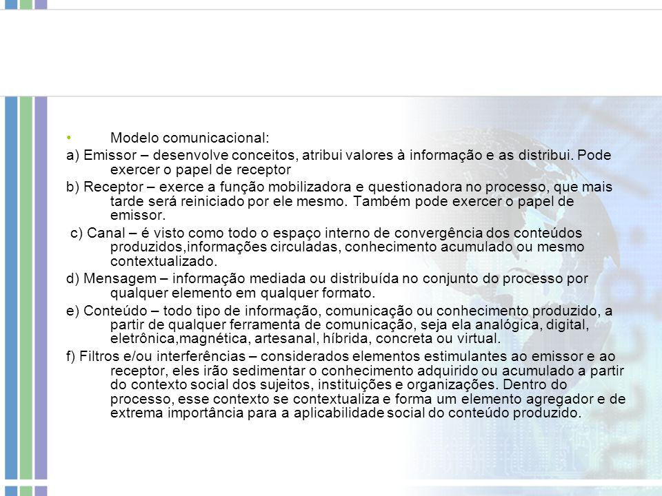 Modelo comunicacional: