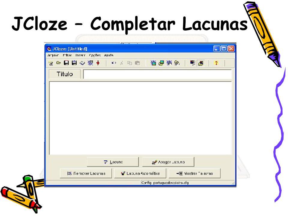 JCloze – Completar Lacunas