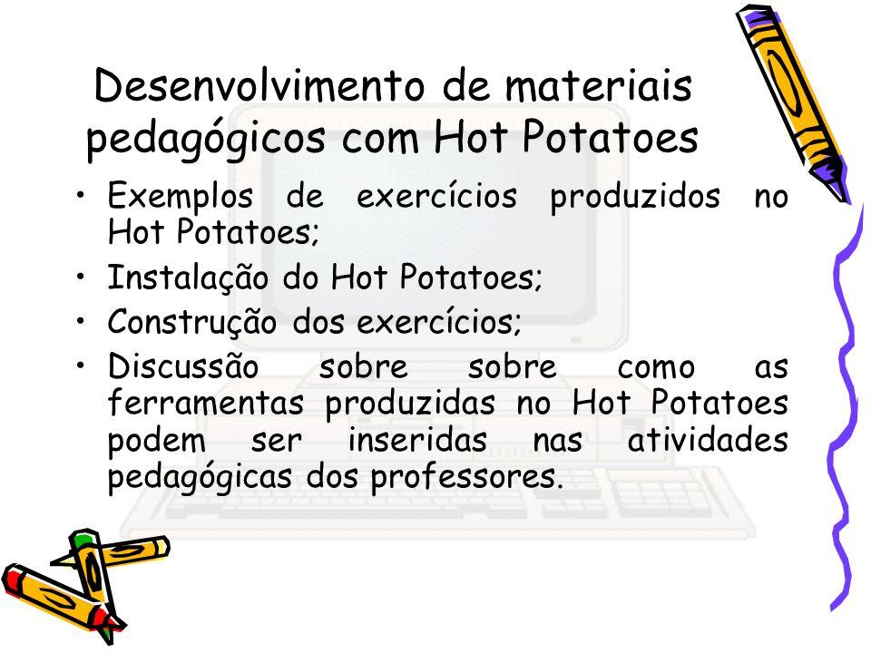 Desenvolvimento de materiais pedagógicos com Hot Potatoes