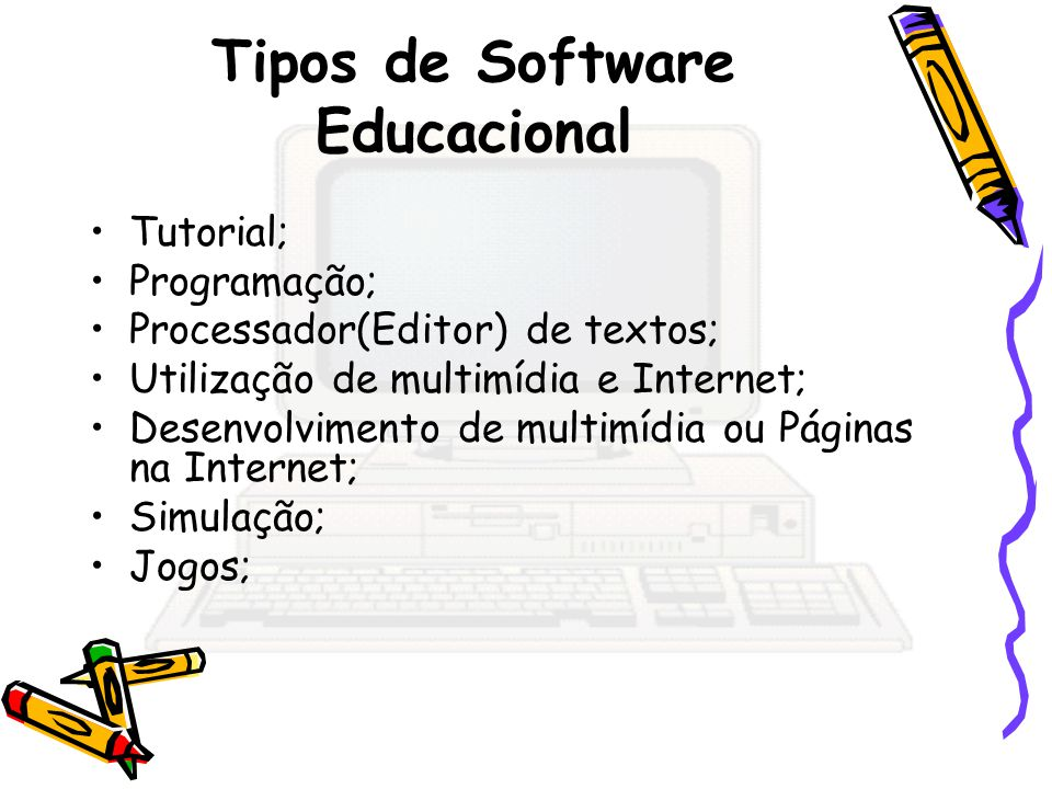Tipos de Software Educacional