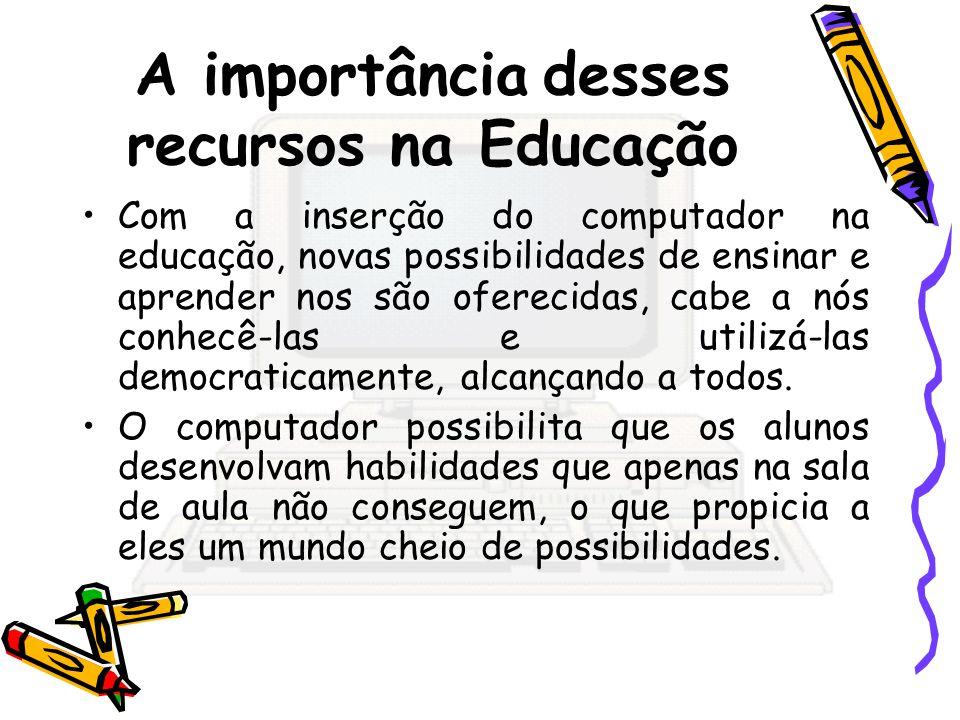 A importância desses recursos na Educação