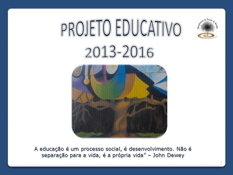 PROJETO EDUCATIVO 2013-2016. A educação é um processo social, é desenvolvimento.