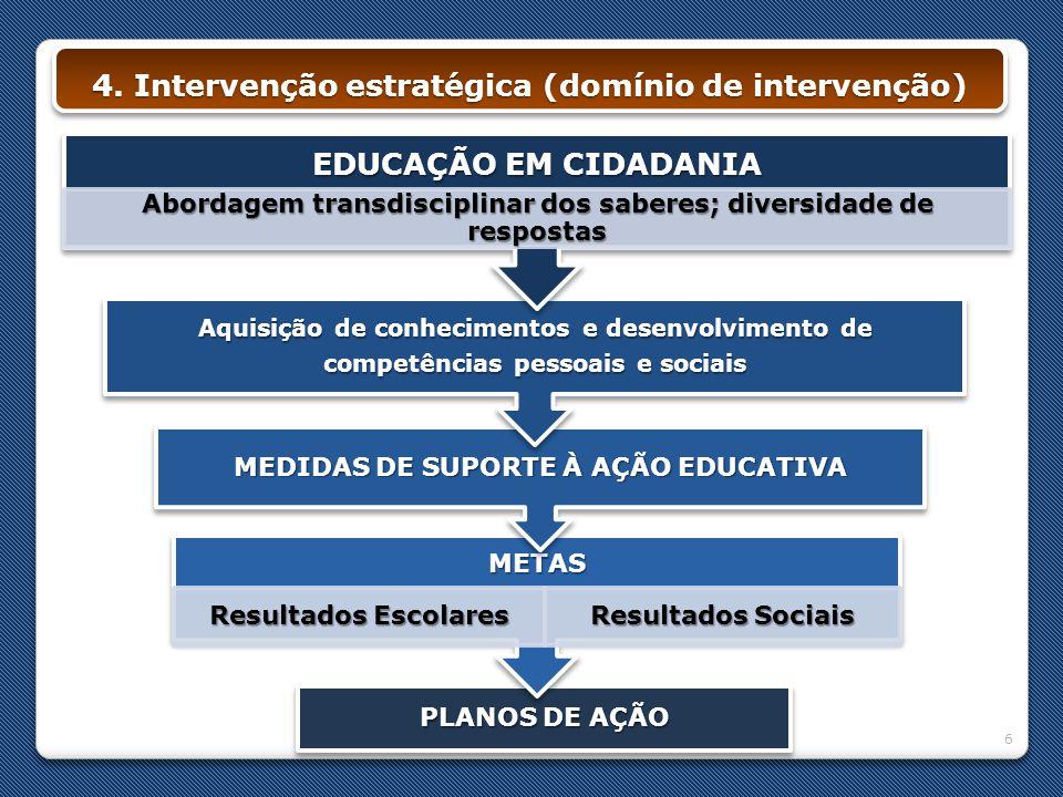 4. Intervenção estratégica (domínio de intervenção)