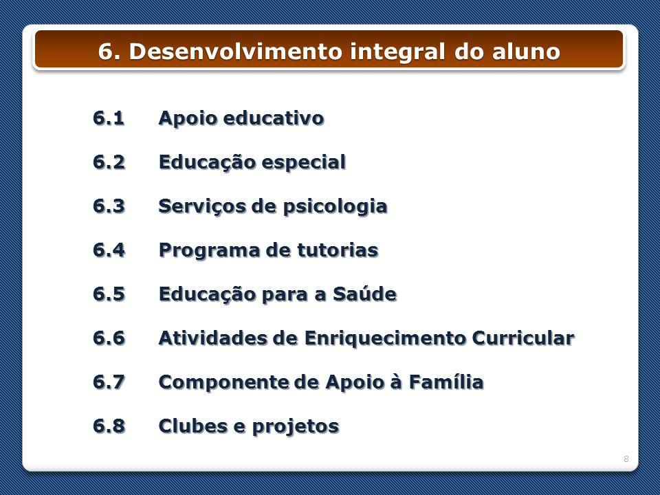 6. Desenvolvimento integral do aluno