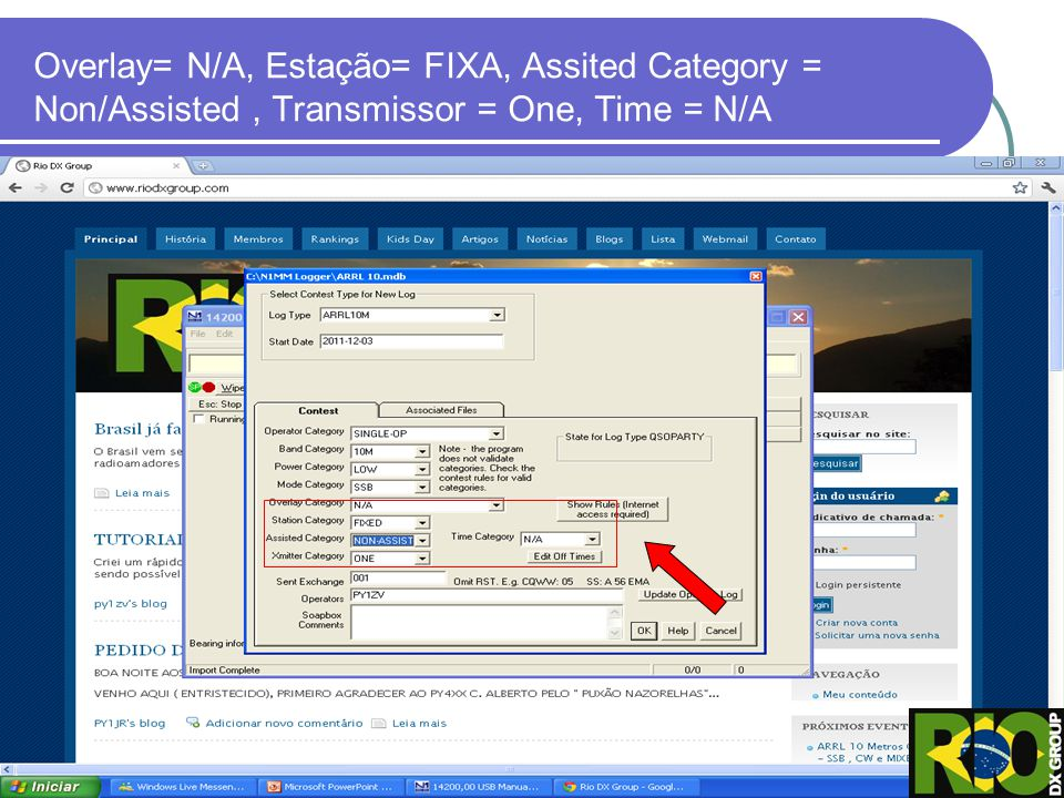 Overlay= N/A, Estação= FIXA, Assited Category = Non/Assisted , Transmissor = One, Time = N/A