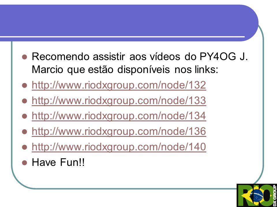 Recomendo assistir aos vídeos do PY4OG J