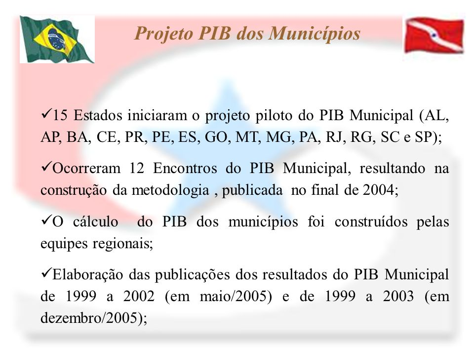 Projeto PIB dos Municípios