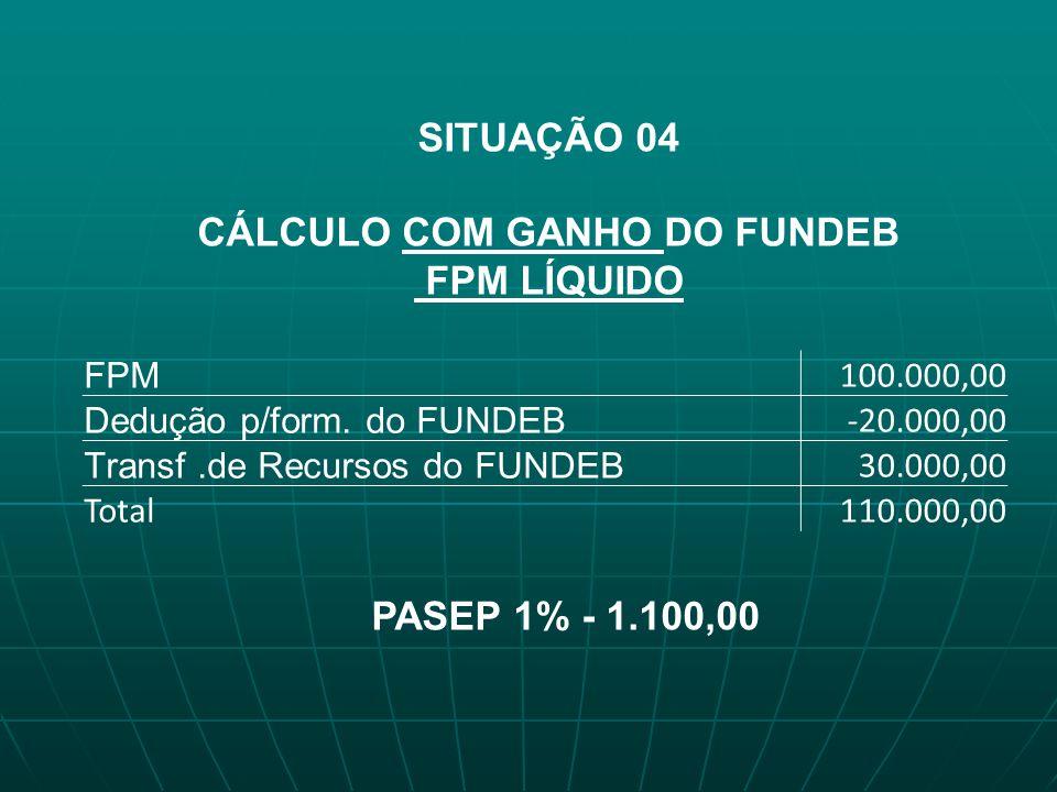CÁLCULO COM GANHO DO FUNDEB