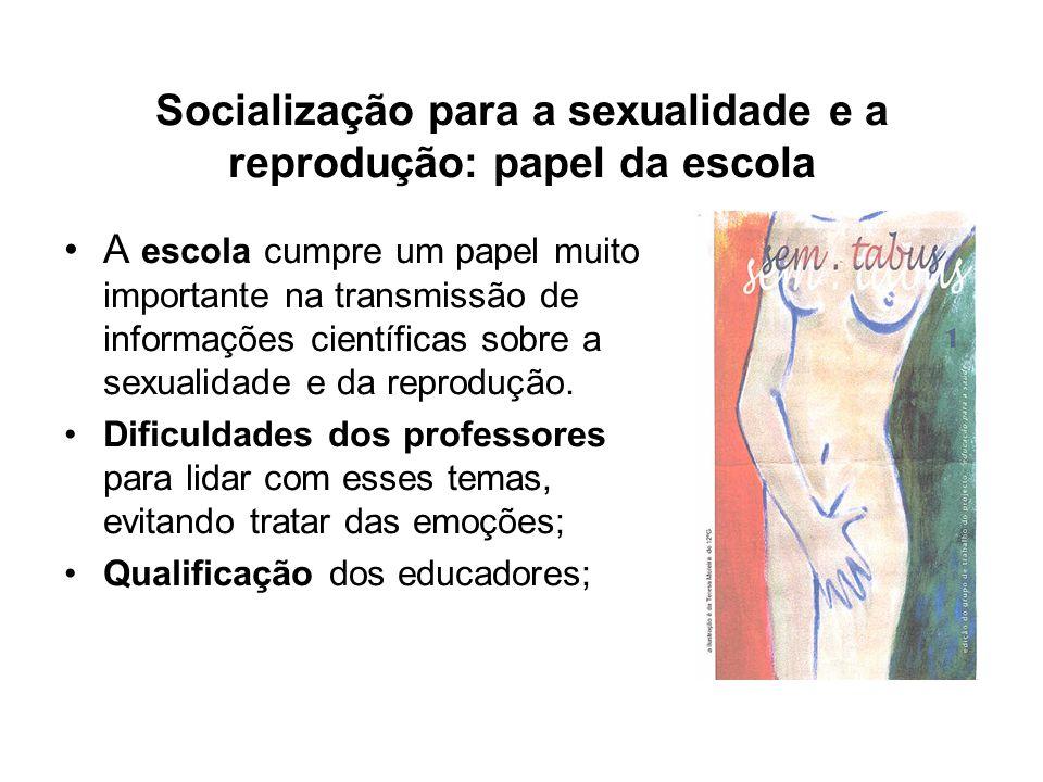 Socialização para a sexualidade e a reprodução: papel da escola