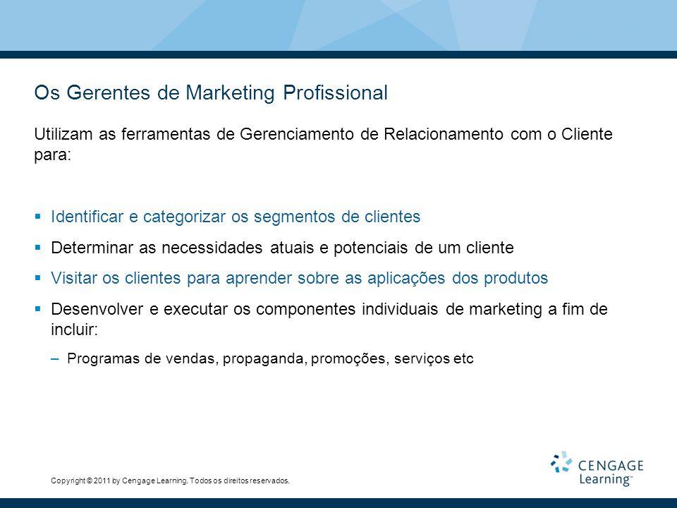 Os Gerentes de Marketing Profissional