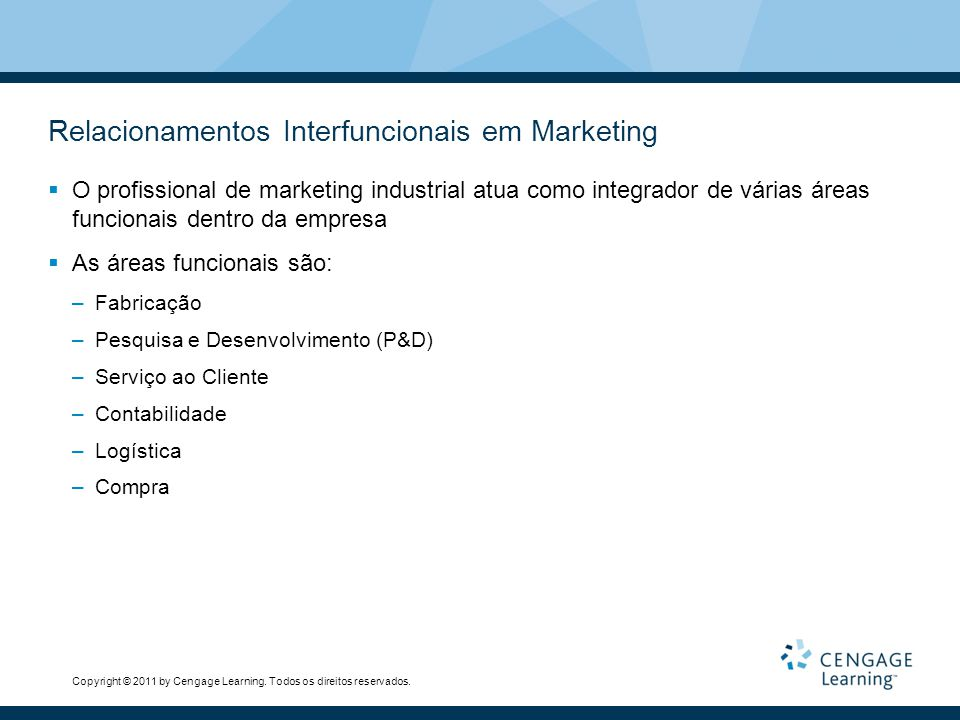 Relacionamentos Interfuncionais em Marketing