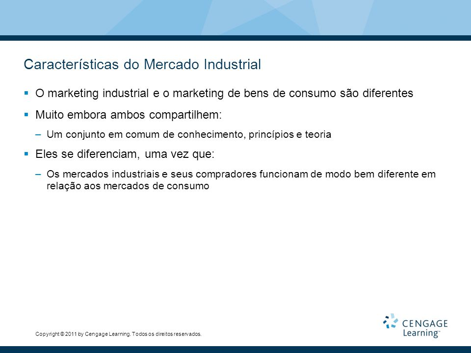 Características do Mercado Industrial
