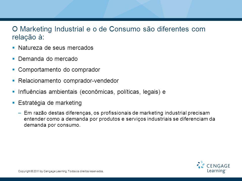 O Marketing Industrial e o de Consumo são diferentes com relação à: