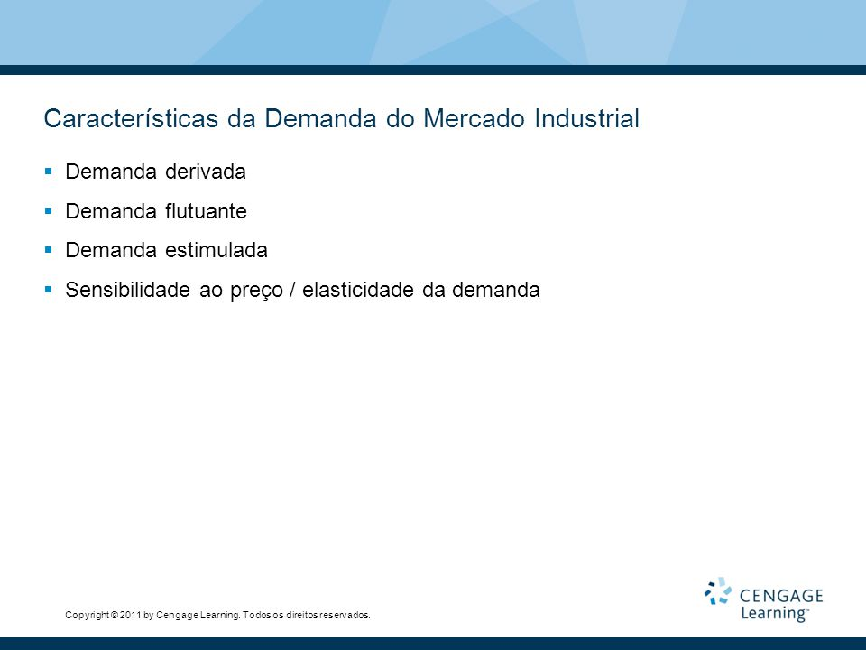 Características da Demanda do Mercado Industrial