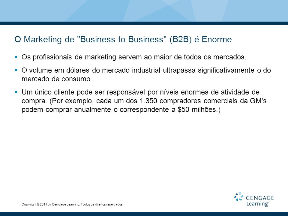 O Marketing de Business to Business (B2B) é Enorme