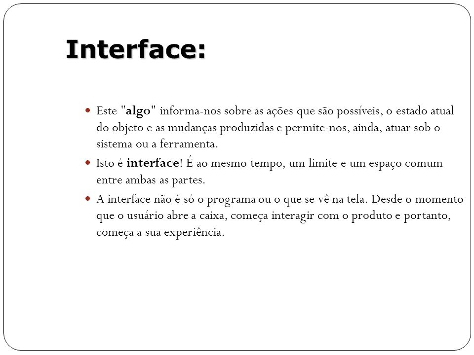 Interface:
