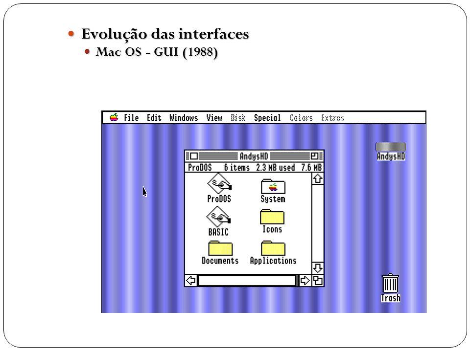 Evolução das interfaces