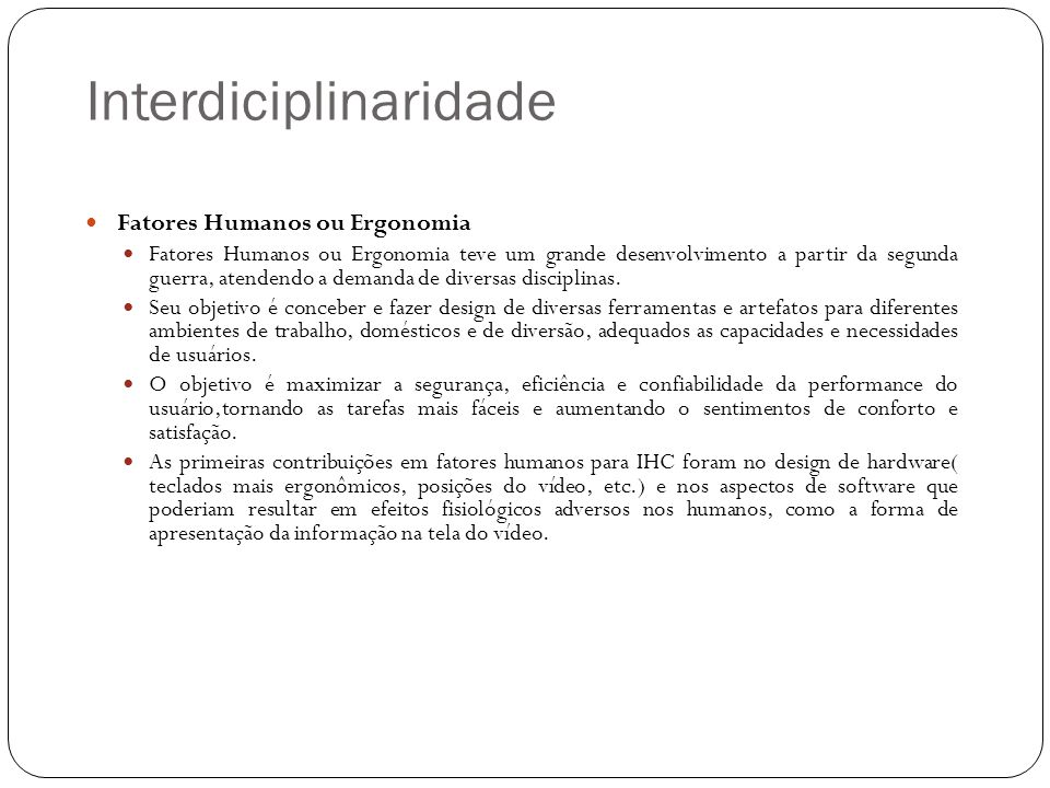 Interdiciplinaridade